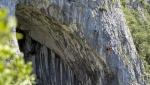 Eneko & Iker Pou free Jon on La Leze arch in Spain