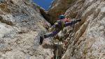 Papilio on Sass de Stria, Dolomites, climbed by Anna & Michal Coubal