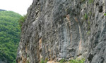 Climbing at Castelbianco, Italy