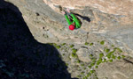 Hallucinogen Wall, first free ascent by Hansjörg Auer