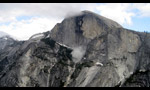 Rockfall on Half Dome in Yosemite