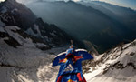 Valery Rozov, BASE jump off Grand Pilier d'Angle, Mont Blanc