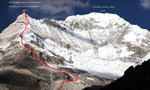 Nevado Santa Cruz, new routes in the Peruvian Andes