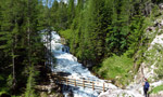 Sentiero dei canyons e cascate, Fanis, Dolomiti