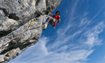 David Lama repeats Alexander Huber routes on Sonnwand