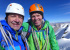 Paul Ramsden (left) and Mick Fowler on the summit of Kishtwar Kailash