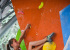 Andrea Ebner during the qualifications of the IFSC European Youth Boulder Championships 2014