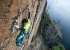 Jacopo Larcher climbing Rhapsody (E11 7a) at Dumbarton Rock in Scotland