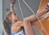 America's Margo Hayes taking part in the Arco World Youth Climbing Championships 2015