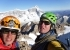Tomas Franchini and Silvestro Franchini on the NE summit of Cerro Penitentes in Patagonia
