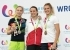 Female Lead podium of the World Games 2017 at Wroclaw in Poland: 2. Janja Garnbret 1. Anak Verhoeven 3. Julia Chanourdie