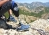 Lino Cianciotto's prothesis and the view from the summit of Monte Muru Mannu, Sardinia