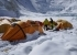 Everest Camp 2 and the tents belonging to the Italian expedition guided by Marco Camandona and François Cazzanelli