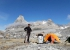 Asta Nunaat Greenland: Andrea Ghittiat base camp, at the foot of the Niaaligaq glacier