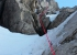 Enrico Sasso making the first ascent, solo, of Rose up the North Face of Marguareis on 11/12/2018