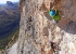 Climbing Via Costantini - Apollonio up the Pilastro della Tofana di Rozes in the Dolomites