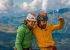 Nina Caprez and Sean Villanueva after the first ascent of Merci La Vie, Eiger
