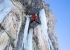 Daniel Ladurner climbing Saxofon, the mixed route in Langental, Dolomites, first ascended with Johannes Lemayer