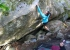15-year-old Oriane Bertone making the first ascent of Satan I Helvete low start 8C at Fontainebleau in France