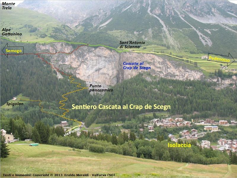 Cascata al Crap de Scegn, Isolaccia, Valdidentro ...