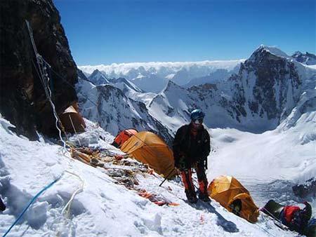 K2 Mountain K2, spedizione Nives Meroi, Romano Benet, Mario Cedolin, Roberto Alloi