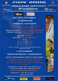 II° MDV Boulder Contest - Mondovì (Cuneo) 30 settembre 2006