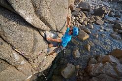 Poseidon, arampicata Trad a Capo Pecora, Sardegna