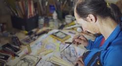 Segni di Michele Caminati, una storia di colori e granito con Simone Pedeferri