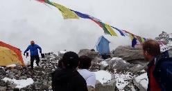 Valanga sull' Everest