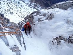 Ueli Steck e Kilian Jornet Burgada insieme sulla parete nord dell'Eiger