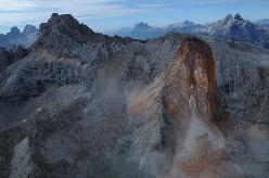 Piccola Croda Rossa - frana in Dolomiti agosto 2016