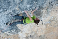 Adam Ondra climbing Mamichula 9b at Oliana in Spain