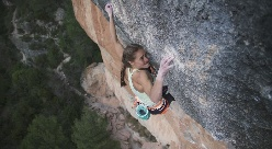 Margo Hayes climbs La Rambla 9a+ at Siurana in Spain
