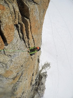 Mountain Guides training course:  Valle dell'Orco and Chamonix granite rock climbing