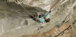 Jacopo Larcher trad climbing project at Cadarese, Italy